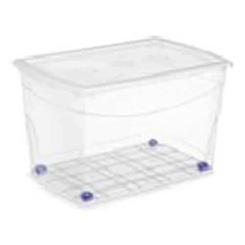 Kis Omni Storage Box with Wheels  - Plastic - 60-Litre - 23.1 x 15.4 x 14.6-in - Clear
