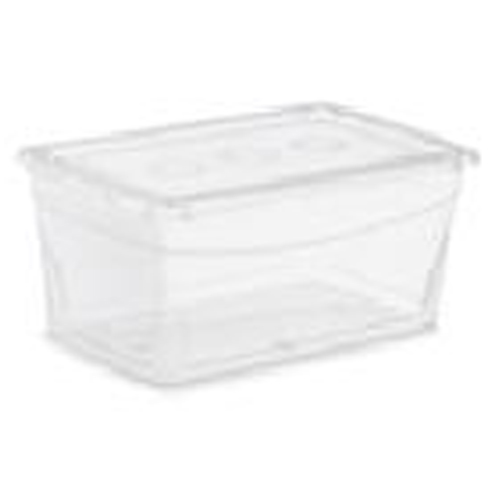 Boîte de rangement Omni Kis, plastique, 15 litres, 17,6 x 11,4 x 6,8 po, clair