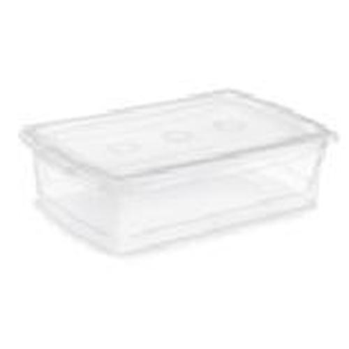 Boîte de rangement Omni Kis, plastique, 25 litres, 23,2 x 15,4 x 6,3 po, clair