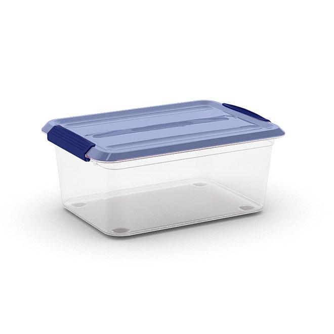 Kis Omni Storage Box - Plastic - 14-Litre - Clear and Blue