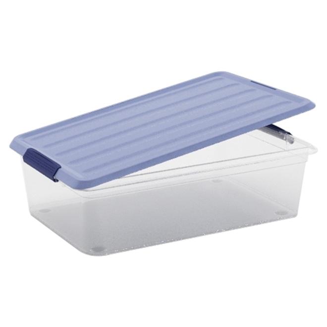 Boîte de rangement Omni Kis, plastique, 5,9 litres, clair et bleu
