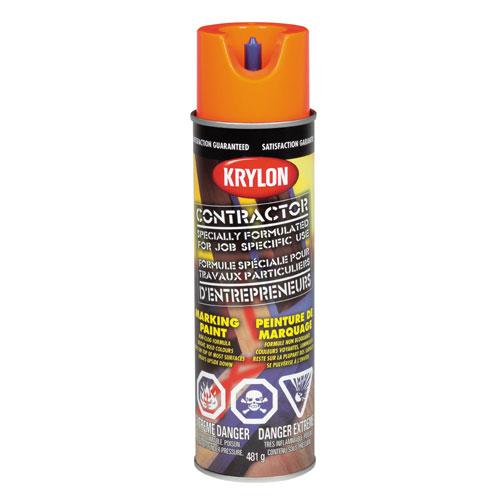 Peinture à marquer d'entrepreneur, Krylon, 482 g, base d'eau, orange