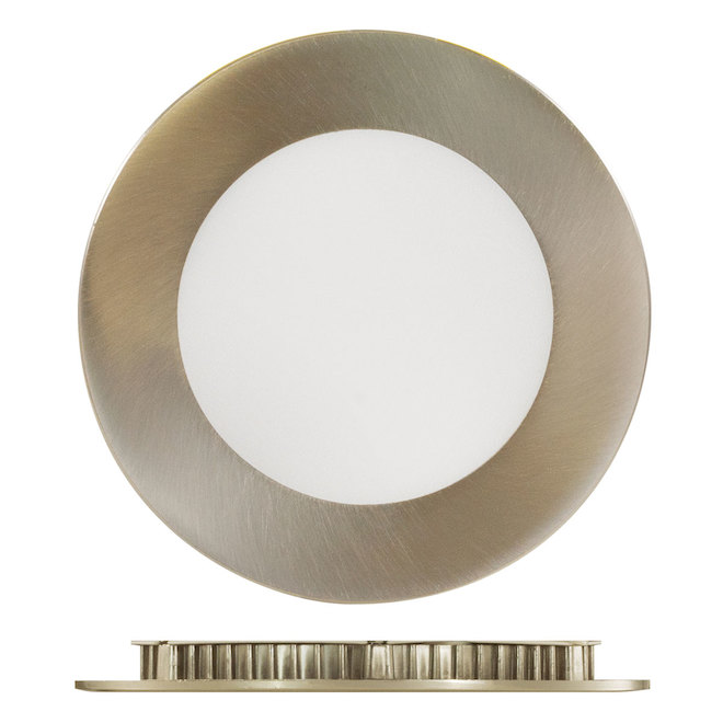 Trenz ThinLED Recessed Light - 40 W - LED - 4-in - Dimmable - Brushed Nickel