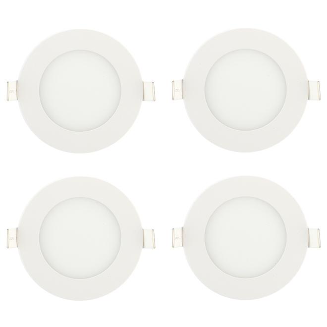 "Set of 4 Liteline Recessed Lights - LED - 9 W - 4"" - White"