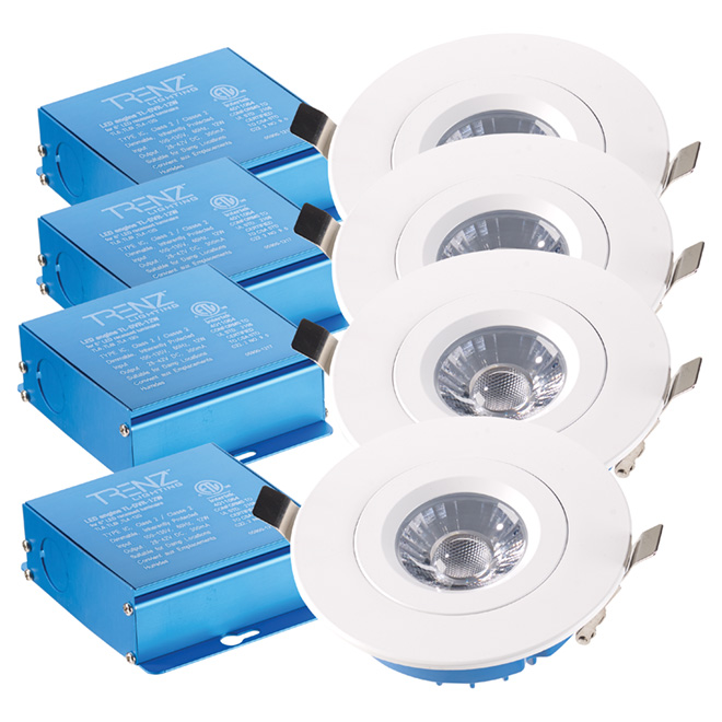 "Retina Dimmable LED Recessed Light - 4"" - White - 4/PK"
