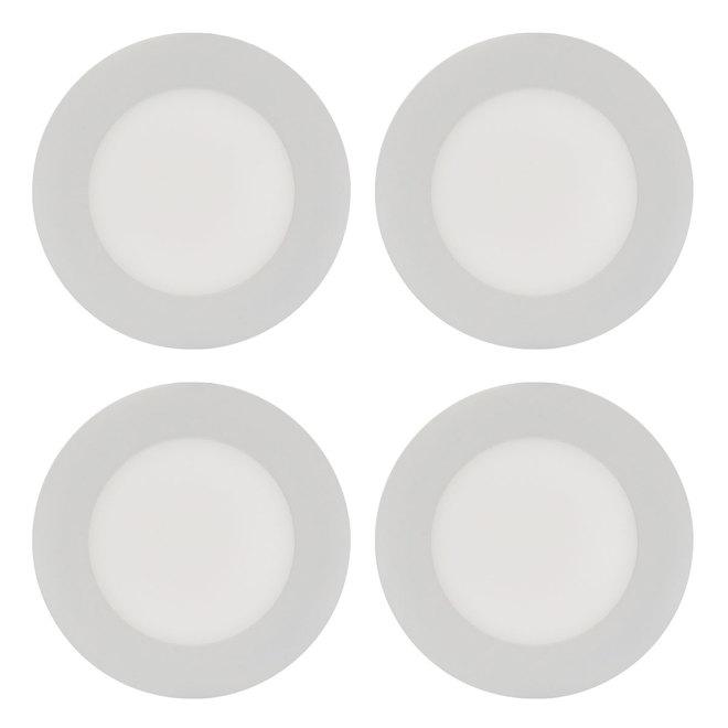 Luminaires ronds encastrés Trenz THINLED, 4 po, blanc chaud, 4/pqt