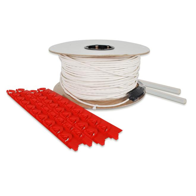 Câble chauffant pour le plancher, 888', 3400 W, 240 V, blanc