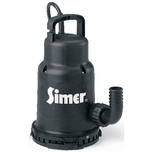 Pompe utilitaire submersible en thermoplastique