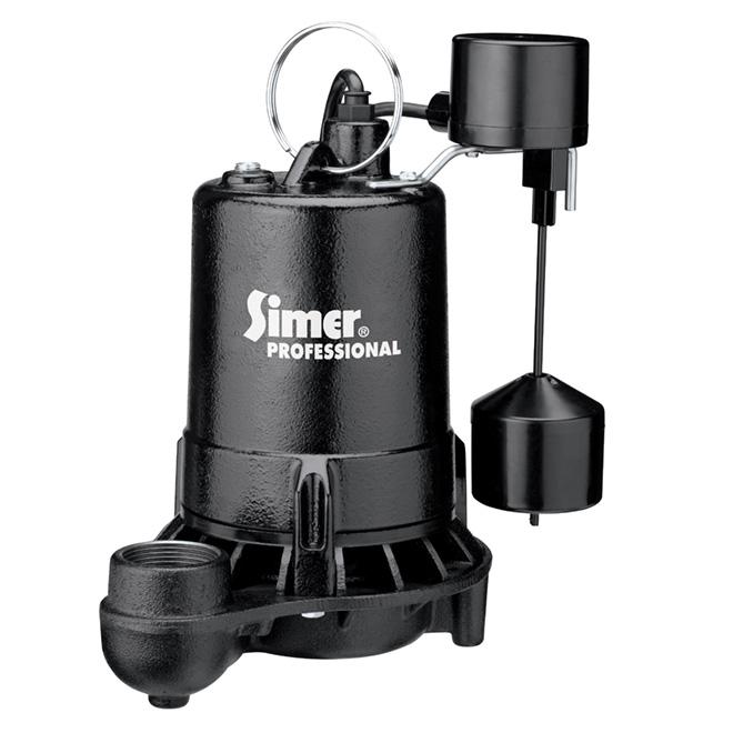Pompe à puisard grade professionnel, 1/2 hp