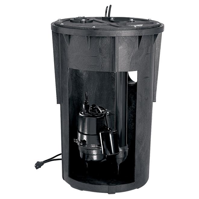 Collecteur d'eau d'égout pré-plombé de 1/2 HP