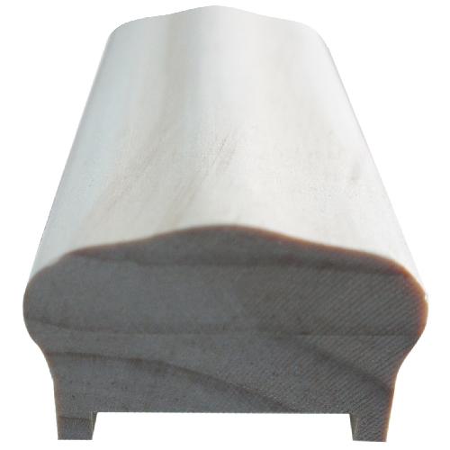 Main courante en pin avec listel, 8', bois naturel