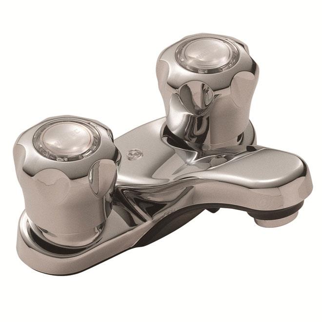 "Waltec Washbasin Faucet - 2 Knob Handles - 4"" - Chrome"