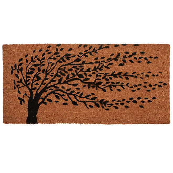 Carpette avec motif Arbre de Vie, 20'' x 42'', naturel