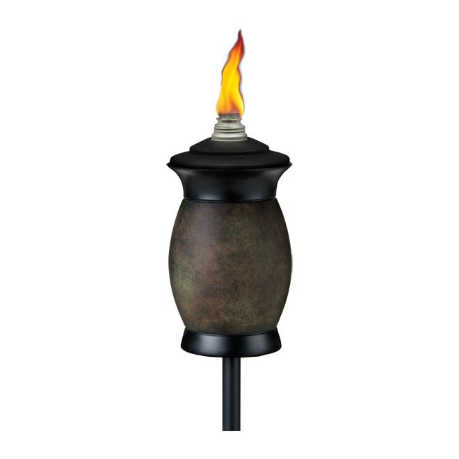 Torche de jardin 4 en 1, gris/noir
