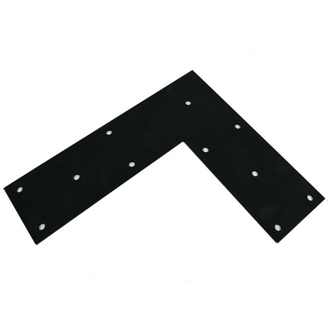 Mabo Metal équerre Plate En Acier 18 X 21 X 6 Noir 2630 Réno