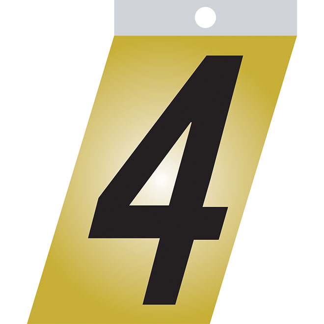 "Self-Adhesive Metal Number - #4 - 2"" - Black"