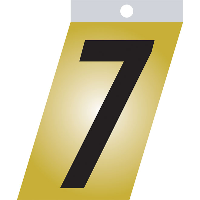 "Self-Adhesive Metal Number - #7 - 3"" - Black"