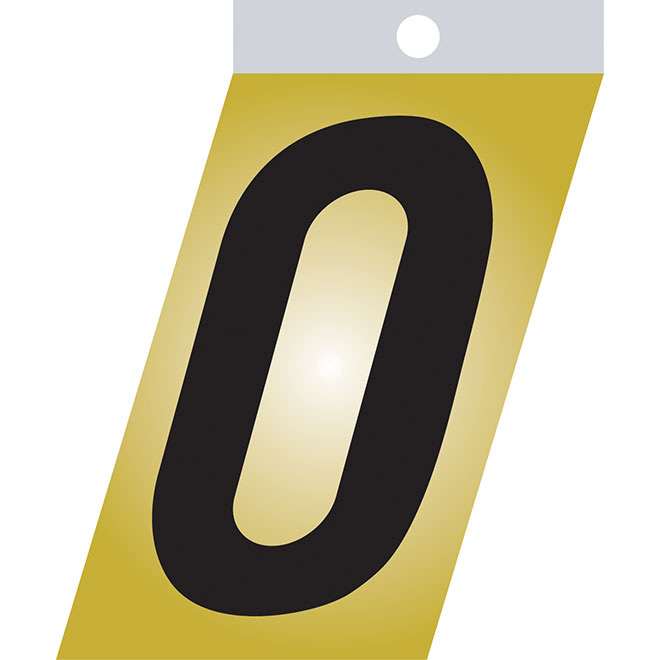 "Self-Adhesive Metal Number - #0 - 3"" - Black"