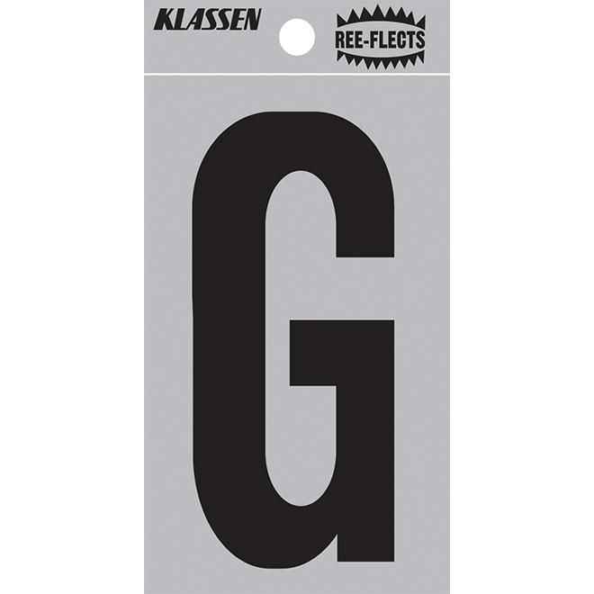 """Reflective Letter - G - 2"""" - Black"""