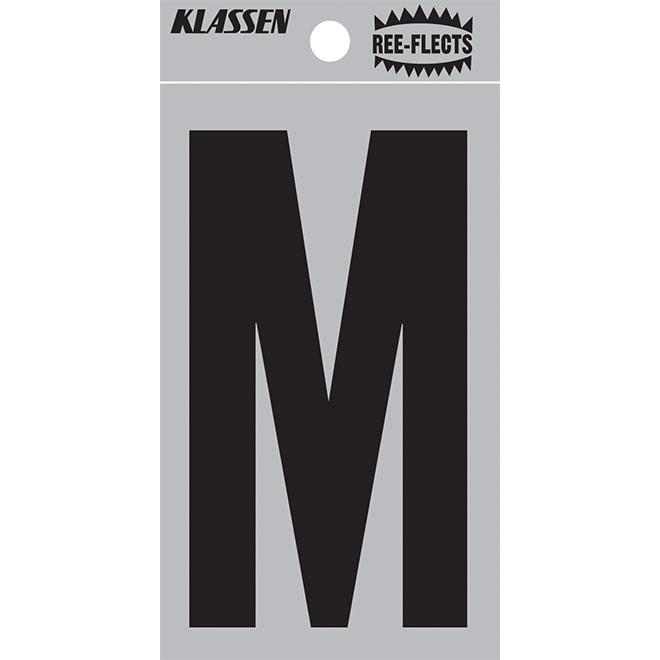 "Reflective Letter - M - 2"" - Black"