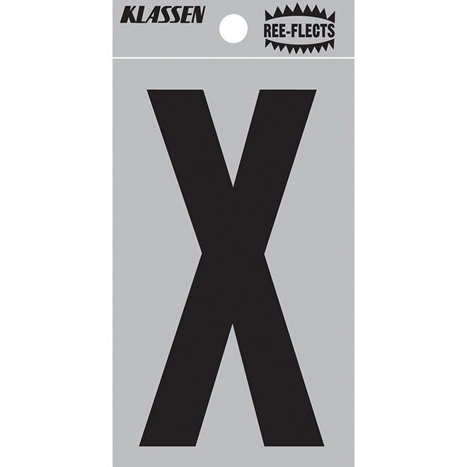 "Reflective Letter - X - 2"" - Black"