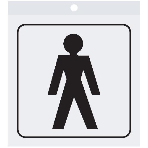 """Men"" Sign - 3 1/2"" x 3 1/2"""