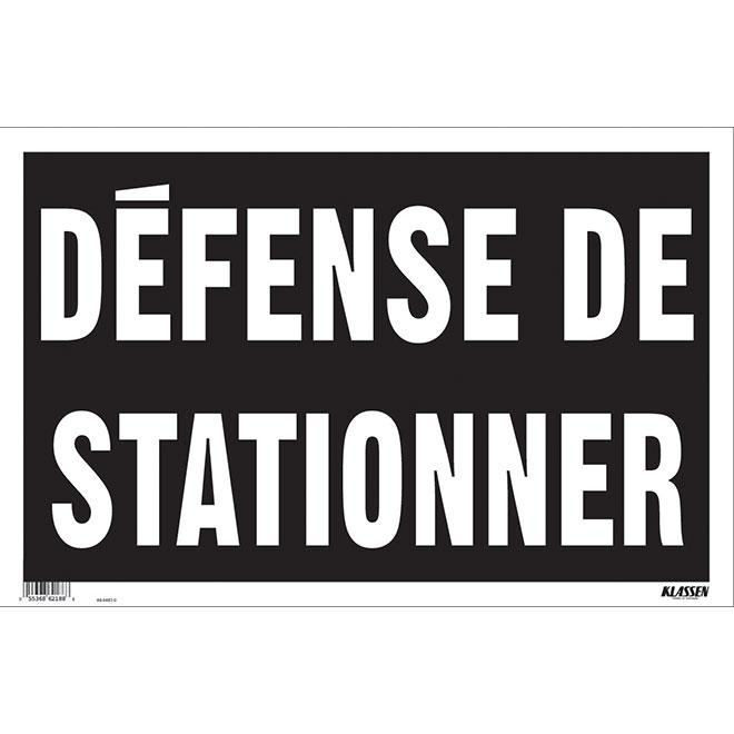 """Défense de stationner"" French Sign"