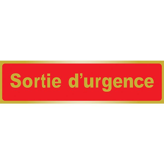 Écriteau « Sortie d'urgence »