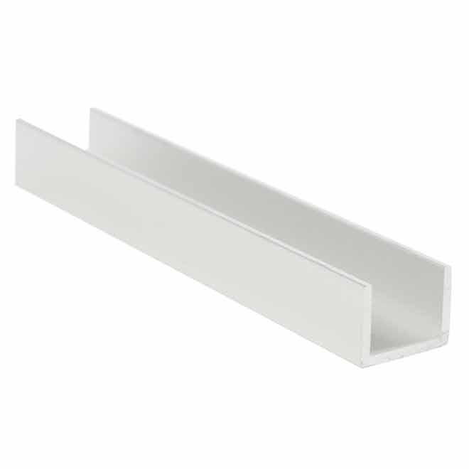 """Caniveau en aluminium en «U», 3/4"""" x 1"""" x 3/32"""""""