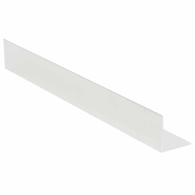 "Angle intérieur en aluminium, 1/2"" x 1/2"" x 8', lustre mira"