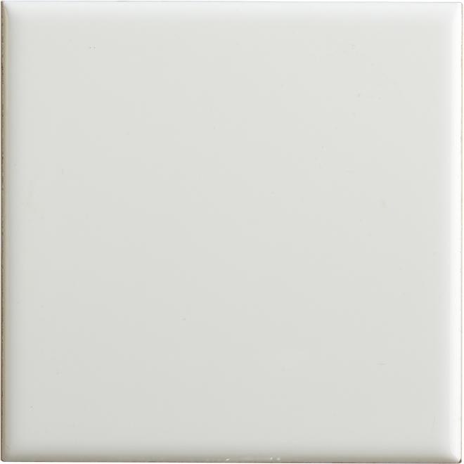 Céramique murale, 4'' x 4'', 110 tuiles/boîte, blanc lustré