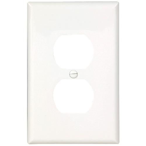 Receptacle Plate - 1 Duplex - White