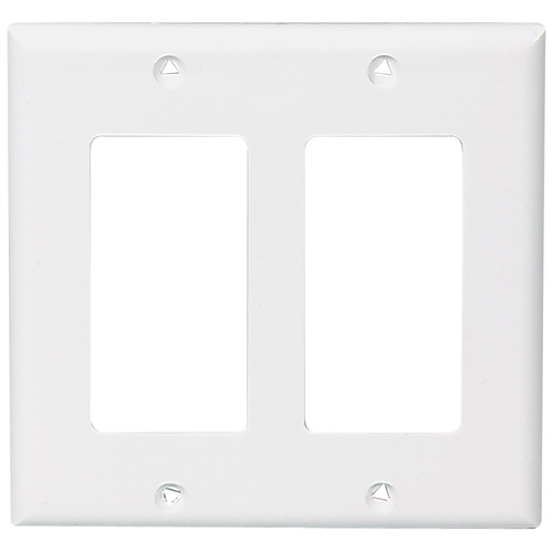 Decorator Wall Plate - 2-Gang - Standard - White
