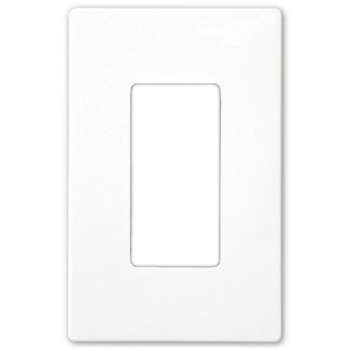 Wall Plate Screwless Decorator 1-Gang - White