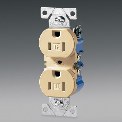 Prise électrique double sécuritaire
