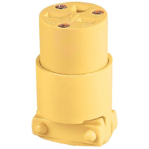 Connecteur de grade commercial, 15 A, 250 V, 2 pôles/3 fils