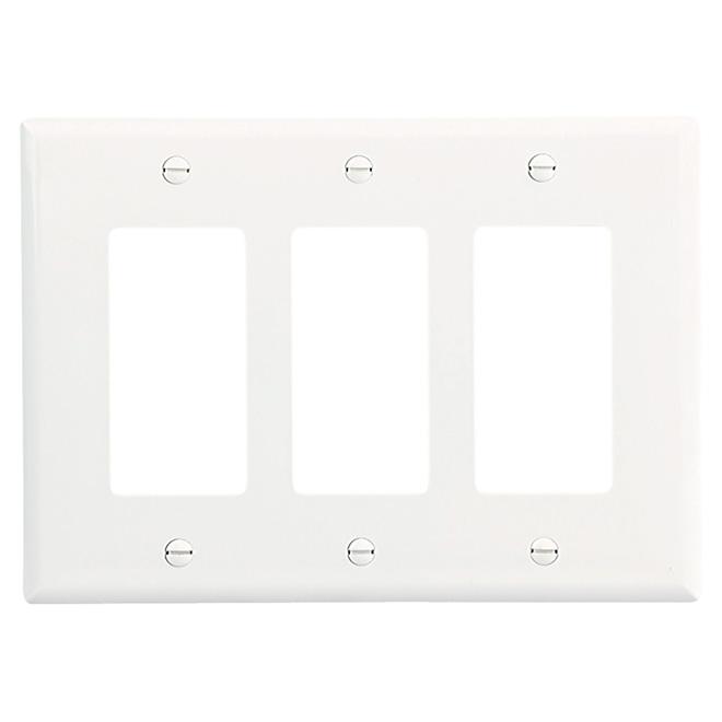 Plaque murale moyenne triple Cooper, polycarbonate, blanche, 6 3/8 po l. x 4 1/2 po L.