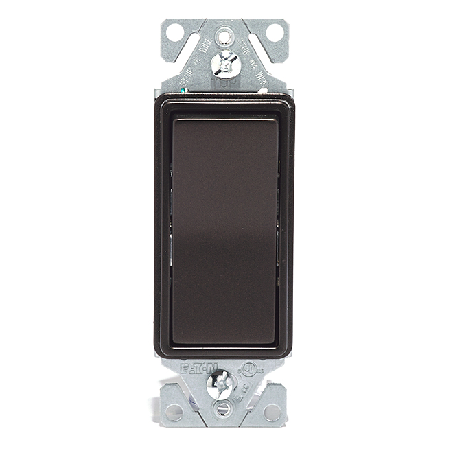 Single Pole Decorator Switch - 15A - 120V - Bronze