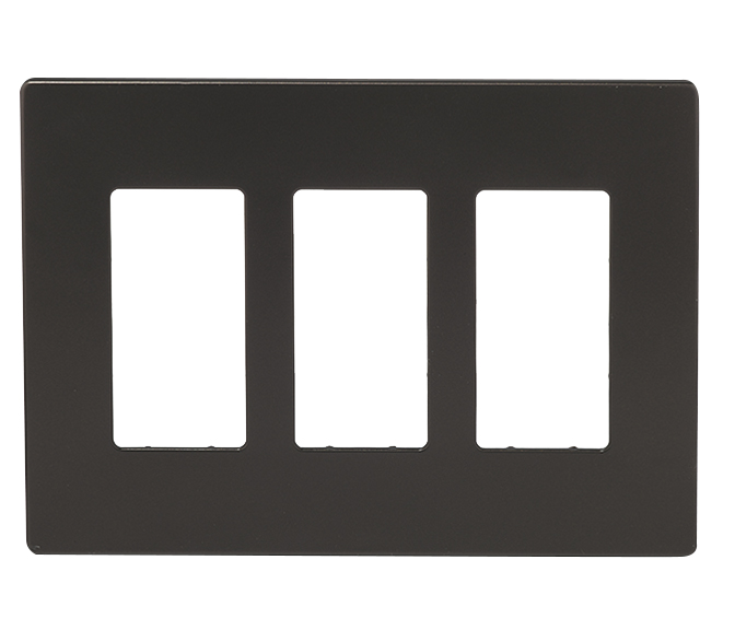 Screwless Wall Plate - 3-Gang - Bronze