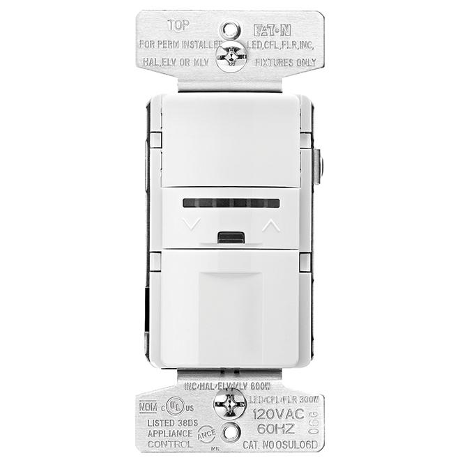 Dimmer and Sensor - Single Pole - 300W / 120V - White