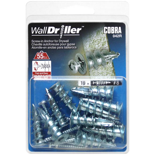 """Walldriller"" Self-Drilling Anchors and Screws - #8 - 10 PK"