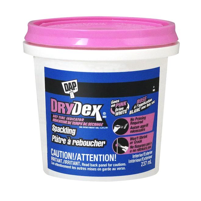 Plâtre à reboucher DryDex, indicateur de séchage, 236ml, rose