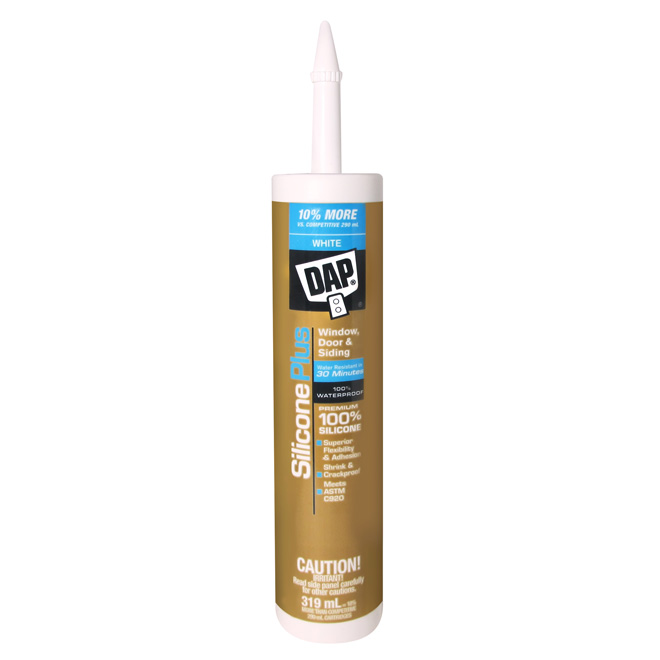 Silicone Rubber Window & Door Sealant - 319 ml - White