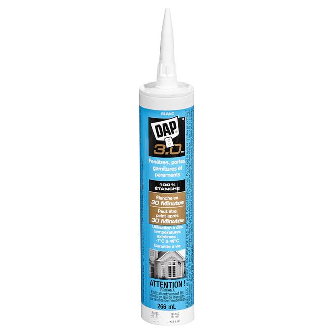 Scellant pour fenêtres, portes et garnitures, 266 ml, blanc