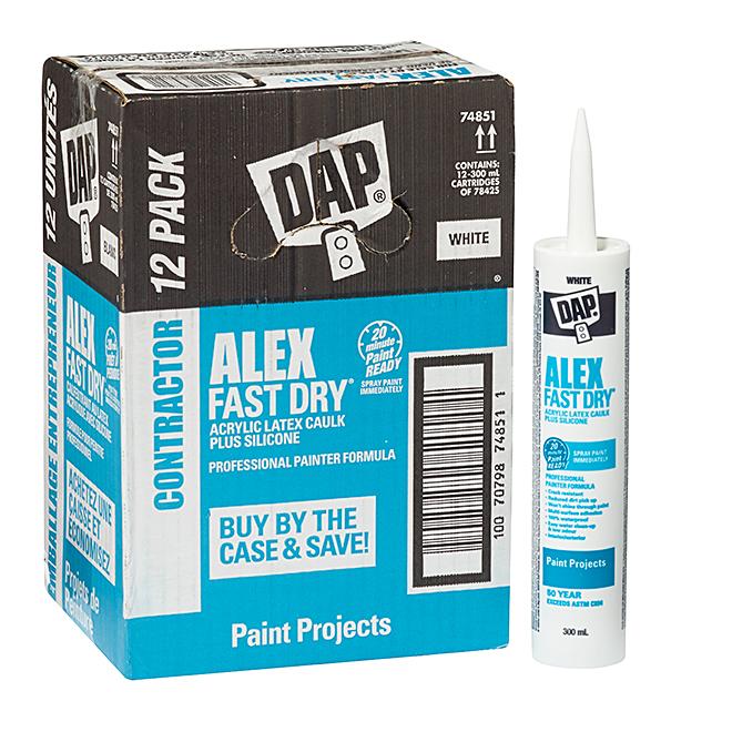 Acrylic Latex Caulk with Silicone - 300 ml - White