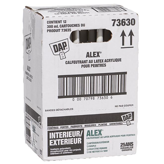 Calfeutrant pour peintre ALEX, 300 mL, blanc, 12/boîte