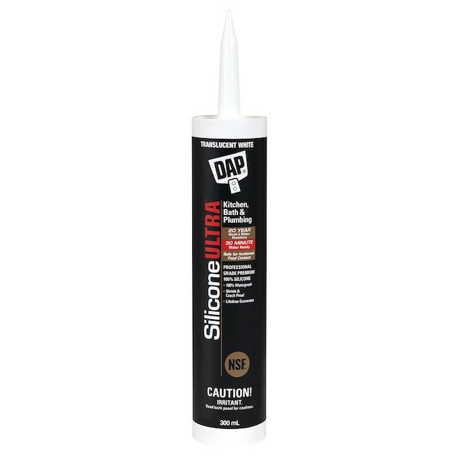 DAP Ultra Slicone Sealant for Kitchen and Bathroom - 300 ml - Translucent White