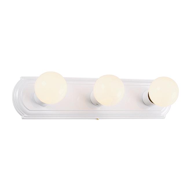 3-Light Vanity Strip - White