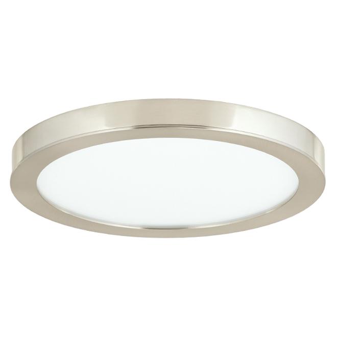Circular Flushmount - Integrated LED Lighting - Brushed Nickel