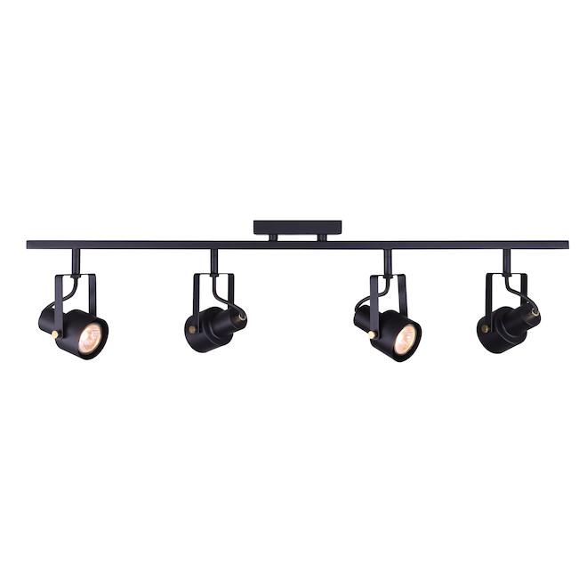 Rosedale Track Light - 4 LED Lights 7.5 W - 19'' - Black